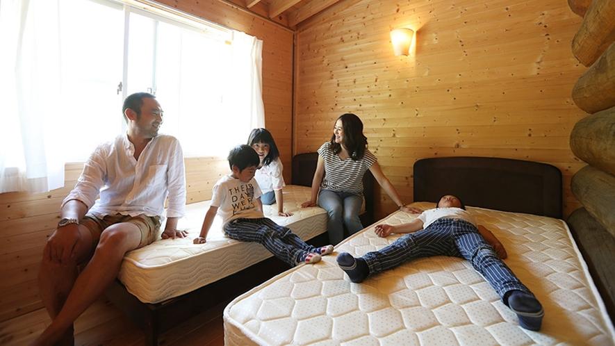 *【ログハウス14の棟】ベッドもご利用いただけます♪