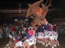 阿夫利神社例大祭(梯子立て)※印西市役所提供