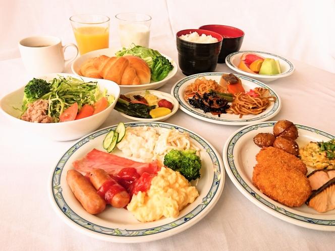 ご朝食バイキング 盛り付け(イメージ)