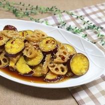 蓮根とさつま芋のピリ辛煮