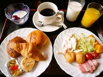 ご朝食バイキング(盛り付け例、洋食)