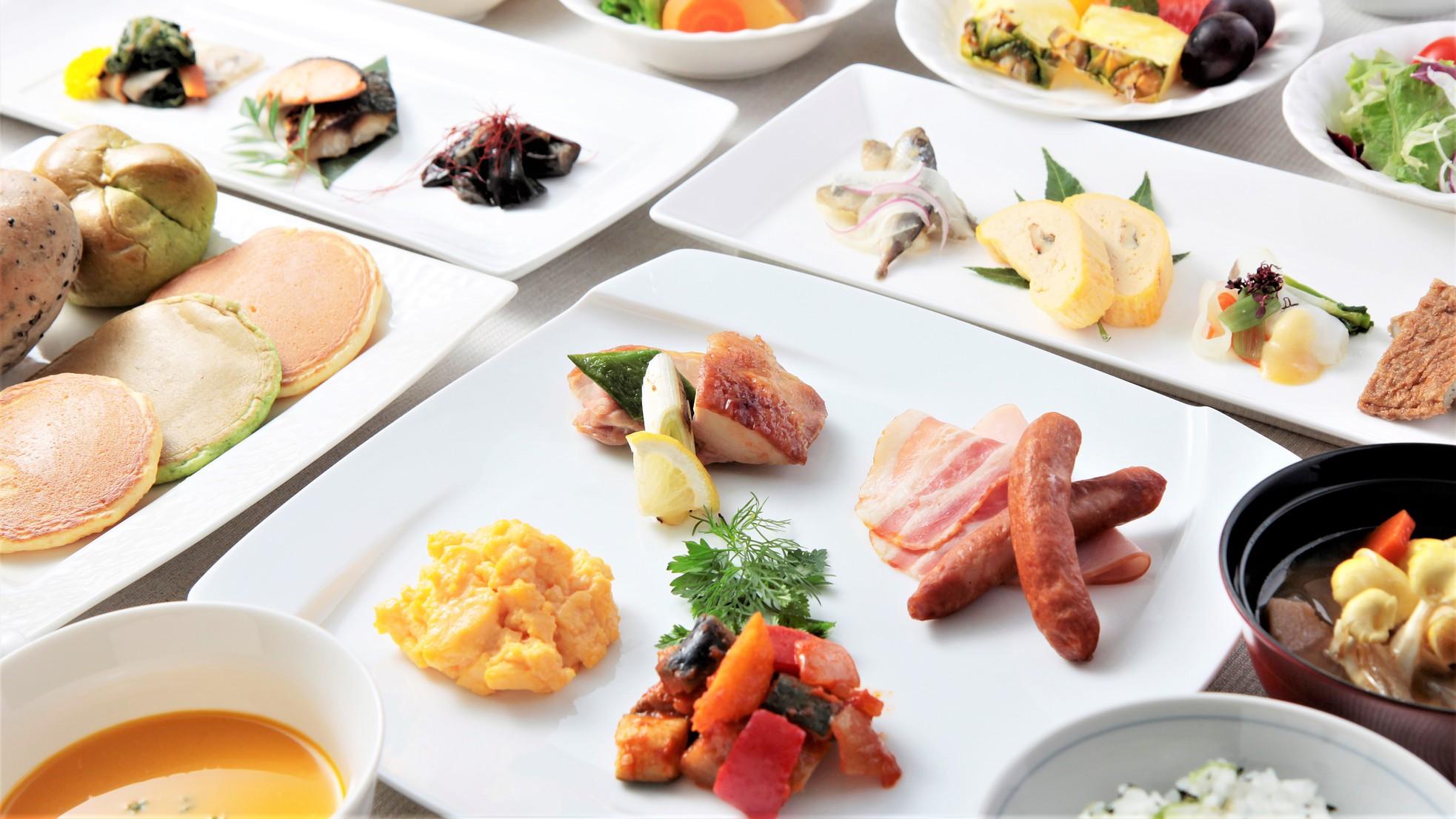 【朝食Buffetメニュー イメージ(和・洋)】