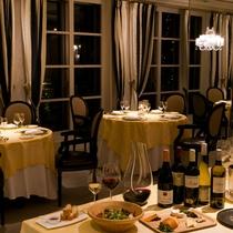 〈ディナー〉フレンチ・中華のコースや豊富なアラカルトメニューが楽しめます。