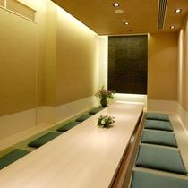 〈個室・牡丹〉 掘りごたつ式の和室になります。