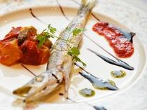 魚料理の一例です。