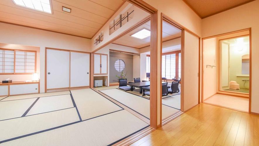 *【客室/和室13畳+8畳(101号室)】広々とした2間続きの客室。1日1組様限定のお部屋です。