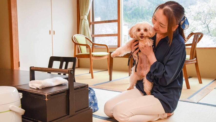 *【客室/わんちゃん同伴】ペットも一緒にご旅行へ。お部屋とロビーはわんちゃん同伴でご利用頂けます。