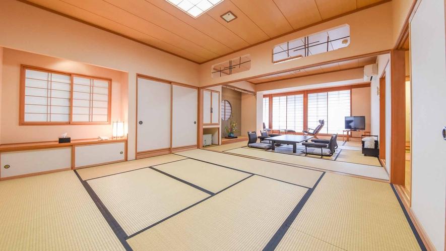 *【客室/和室13畳+8畳(101号室)】洗面、トイレ共に2つずつ、宴会利用等にも使い勝手の良い客室
