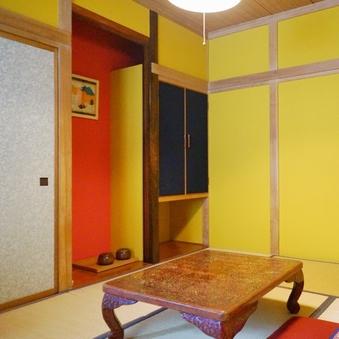 【禁煙】浪漫ただよう少しコンパクトでカラフルな和室(6畳)