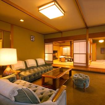 【ベッド付特別室】12.5畳・8畳・応接間15帖【指宿の棟】