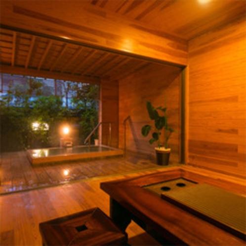 ◆貸切半露天風呂-桧-◆