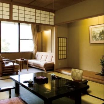 【景山荘】飛騨の山並みを眺めながら温泉を楽しむお部屋