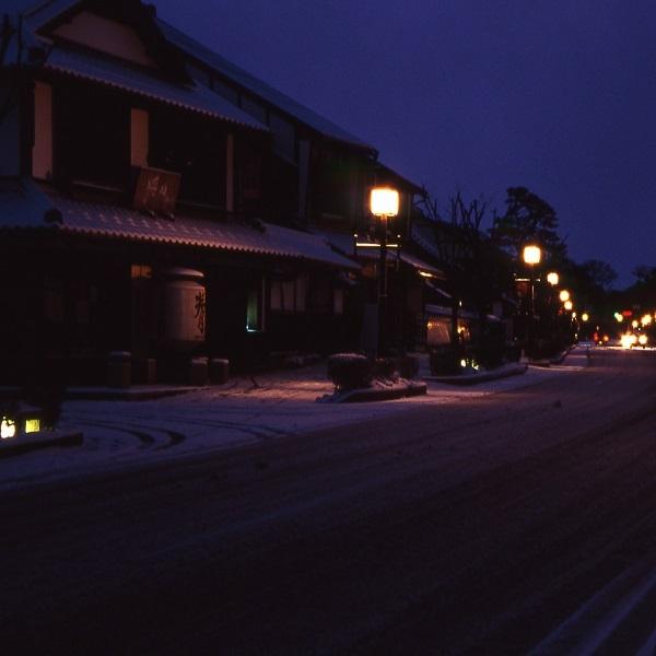 雪の日の夢京橋キャッスルロード