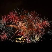 彦根城と彦根大花火大会