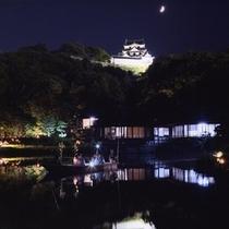 月明かりの玄宮園