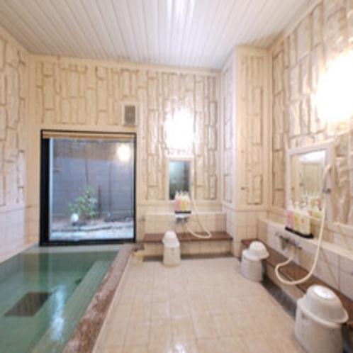 女性大浴場は鍵付きで安心。
