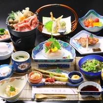 ☆料理_夕食_全体_すき焼き+天ぷら