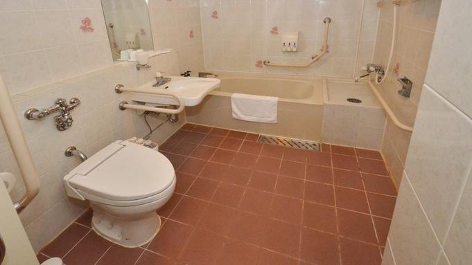 【1日1組限定/バリアフリー対応】客室&浴室は車いす移動OK!デラックスツイン/無料駐車場完備