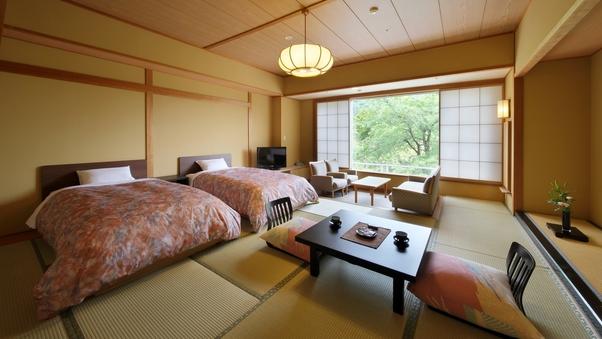 【凌雲閣 禁煙和ベッドルーム】柔らかな雰囲気が人気のお部屋