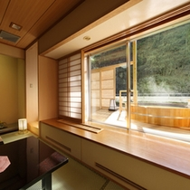 紅雲閣露天風呂付客室一例2