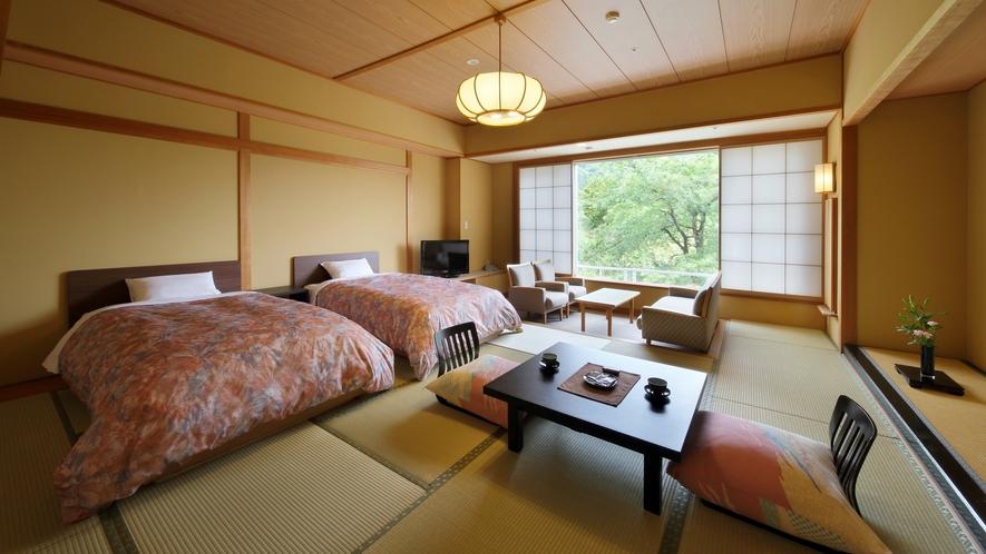 凌雲閣和ベッドルーム一例