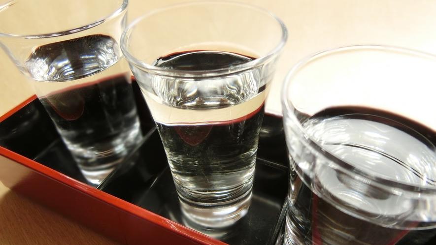 地酒を飲み比べ