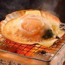 北海道産 殻付き帆立バター焼き