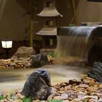 アトリウムの滝 水流