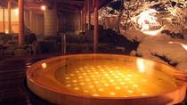 ◆庭園露天風呂「ひのきの湯」~雪景色~