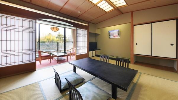 【禁煙】自慢の庭園を眺める♪和洋室(10畳+ツインベッド)