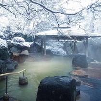 冬の男性露天風呂