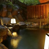 【東館B1・無料貸切露天風呂・「水天宮の湯」まゆみ】貸切利用は23時までです。お早めのご利用を。