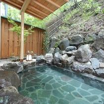 【東館B1・無料貸切露天風呂・「水天宮の湯」まゆみ】翌6時半から女性共用露天風呂になります。