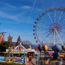 【渋川スカイランドパーク】当館より車で10分。ファミリーやカップルにおすすめの自然豊かな遊園地です。