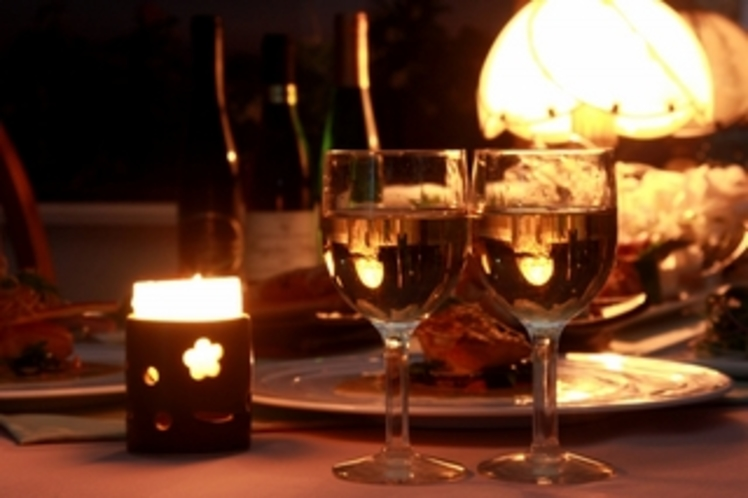 ディナーとワイン