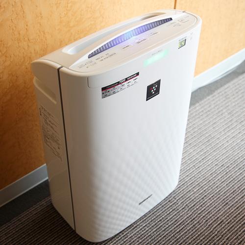 ◆客室備品◆高濃度プラズマクラスターを搭載した加湿空気清浄機を全室に設置♪