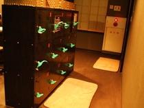 大浴場のロッカー