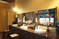 女性大浴場・洗面台