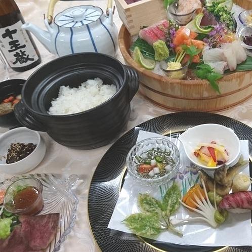 2食付き常陸牛プラン(夕食内容一例)