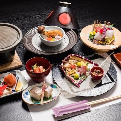 【夕食一例】お客様から評価の高い料理長が腕を振るうコース料理