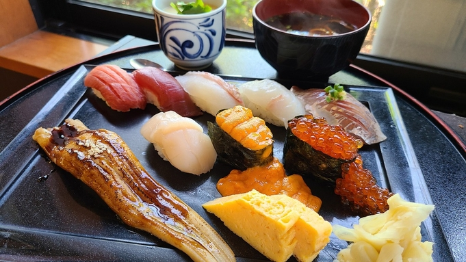 【夕・朝食付き】豊洲直送の新鮮なお寿司で夕食を満喫!お得な2食付きプラン