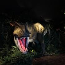【ロビー】恐竜がお出迎え♪
