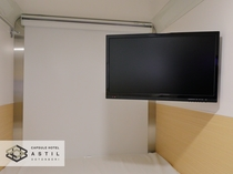 <全寝室>大型20インチテレビ全室完備。寝ながらでも座ってでもお好きにお楽しみ下さい。