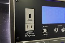 全室コンセント、USB充電端子、マルチ充電器20インチテレビ完備