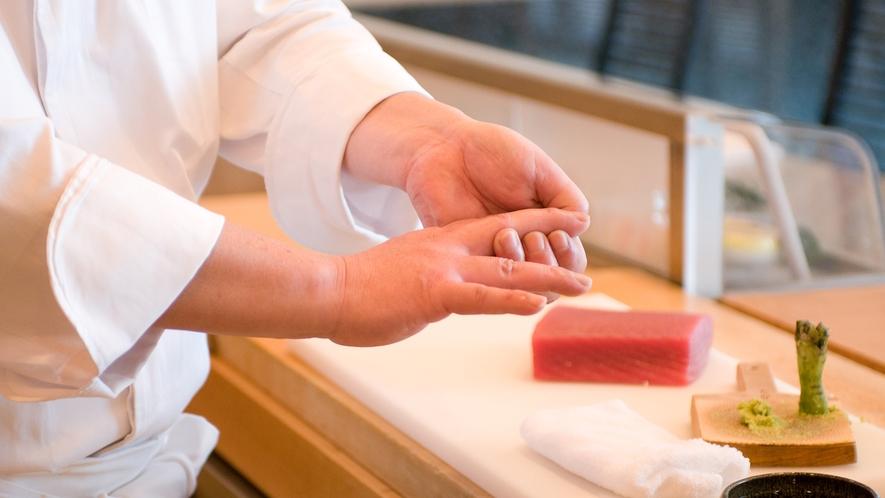 和食 清水 [日本料理] 寿司カウンター