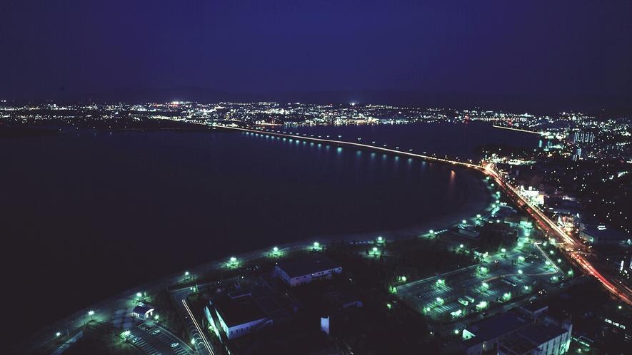 ホテルから見える夜景