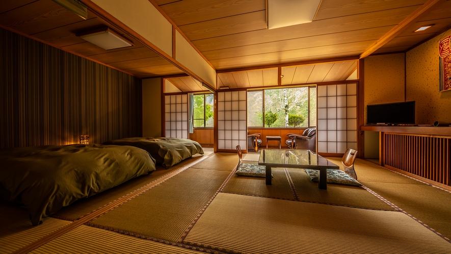 客室【桜桃】和室17.5畳 ベッド2台