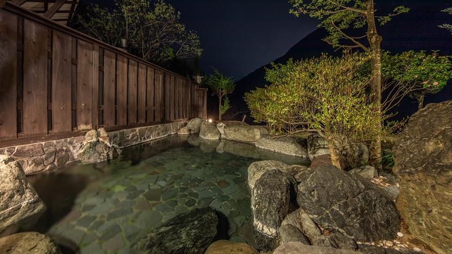 【露天風呂】川の湯(夜)