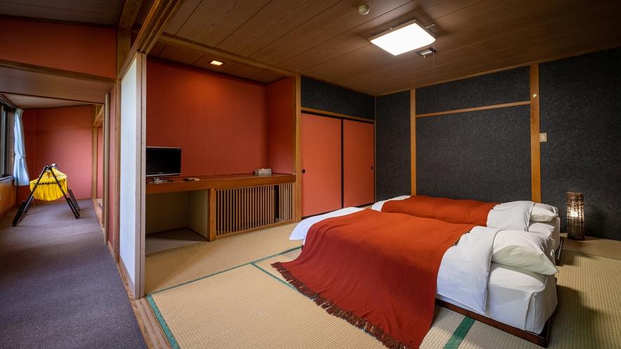 客室【桃・葡萄】和室10畳+ベッドルーム ゆったりとお過ごしいただけます♪
