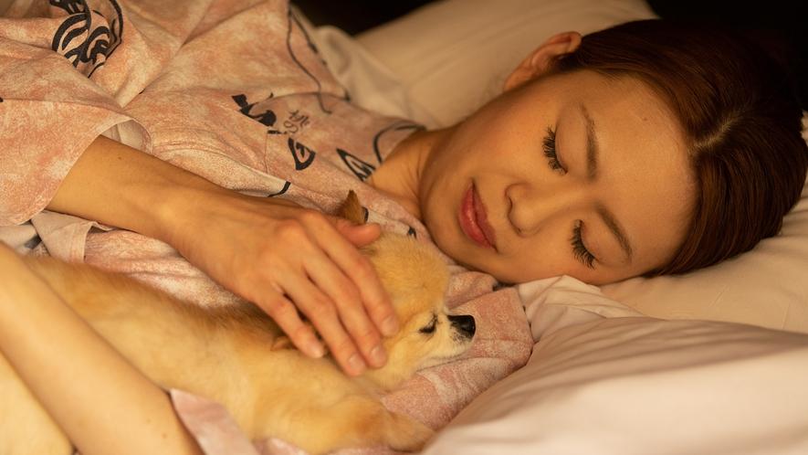 【添い寝OK】わんちゃんと添い寝OK!!おうちと同じようにゆっくりできます♪